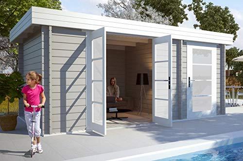 *CARLSSON Gartenhaus Modern-E, 28 mm Wandstärke (470 x 320 cm)*