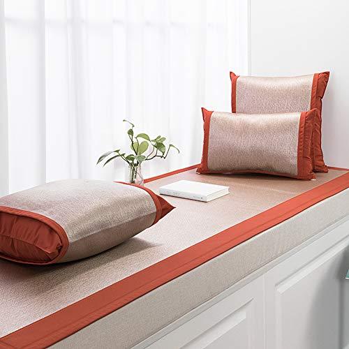 DULPLAY Bettwäsche Aus Baumwolle Tatami Erker-Kissen, Sofabezug Fensterbank Pad Balkon-Schlafzimmer Anti-Slip Sofa Decken Fußboden-matten -c 18x18inch(Pillow)