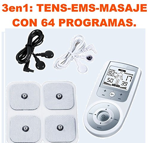 ELECTROESTIMULADOR PROFESIONAL TENS EMS
