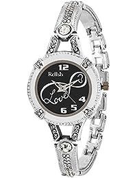 Relish Analogue Black Dial Girl's Watch (Re-L023Sc)