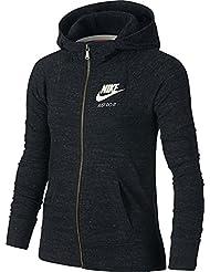 Nike G NSW VNTG FZ Sudadera, Niñas, Negro (Black / Sail), M