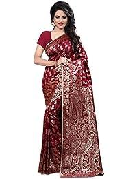 Shree Sanskruti Art Silk Saree with Blouse Piece (Banarasi 1005 maroon_Maroon_Free Size)