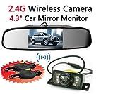 BW® - Specchietto retrovisore da auto, wireless, con sensori...