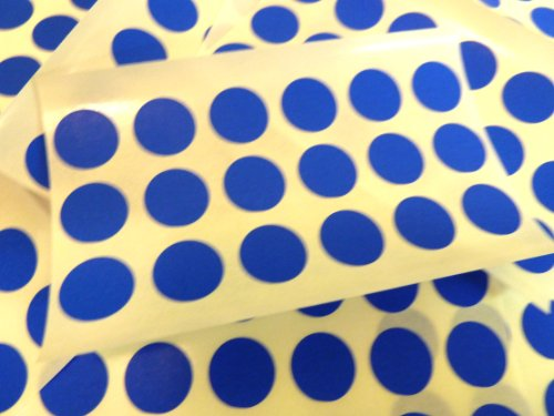 180 étiquettes de 13 mm de diamètre ronds autocollants Bleu-rondes autocollantes