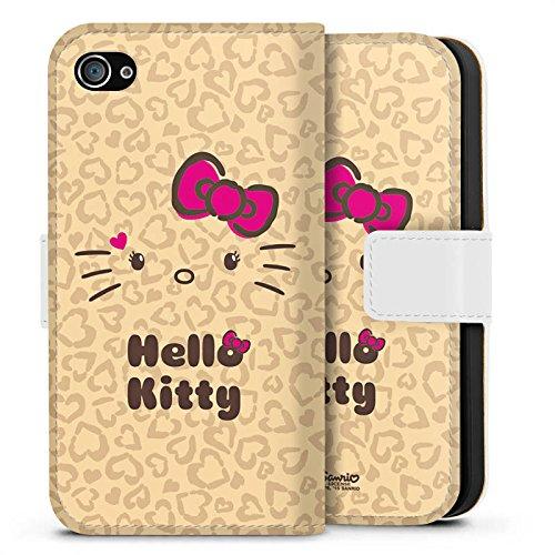 Apple iPhone X Silikon Hülle Case Schutzhülle Hello Kitty Merchandise Fanartikel Leo Sideflip Tasche weiß