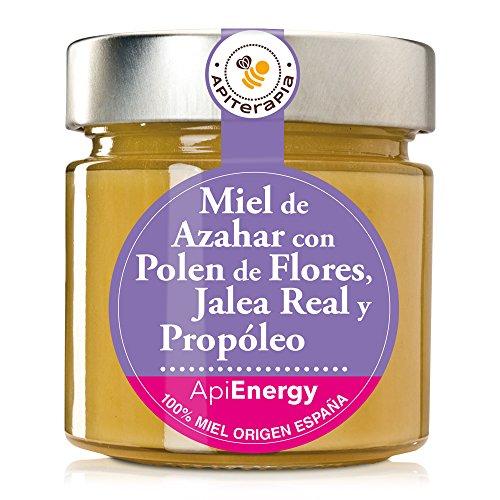 """""""Energía Máxima"""" Miel Cremosa De Azahar Con Jalea Real, Propóleo Y Polen De Flores, 300g"""