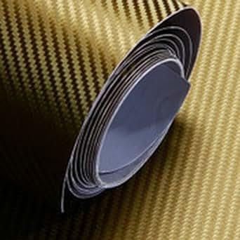 3D personnalisé autocollant de voiture de fibre de carbone de film vinyle 50CM X 127CM DIY