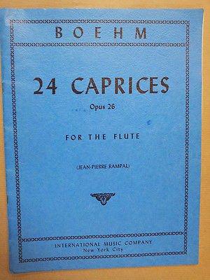 flute BOEHM 24 Caprices Op 26, Jean Pierre Rampal, IMP
