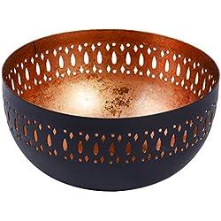 Cuenco Negro y cobre para decorar mesa de centro cortado con láser