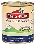 Pferd-Kartoffelmahlzeit für Hunde 800g Dose x 6 Terra Pura Für empfindliche Hunde