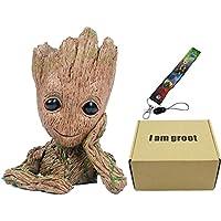 GuangTouL Groot Figuras de Acción Guardianes de la Galaxia Maceta Bebé Lindo Modelo de Juguete Pen Pot Mejores Regalos 6.3in