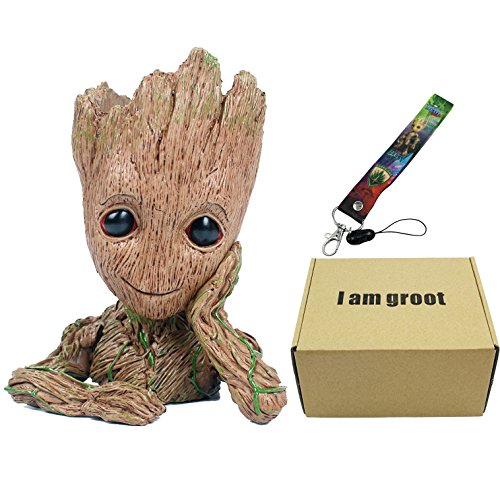 GuangTouL Groot Action Figures Guardians of the Galaxy Flower Pot Cute Baby Model Toy Pen Pot Best Gifts 6.3in