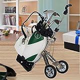 Crestgolf - colorido Carrito de Golf, bolsa de Golf, cubilete de bolígrafos, gadget para escritorio, verde