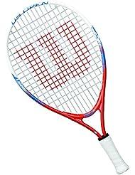 Wilson Us Open W/O - Raqueta de tenis para niños, color naranja / blanco / azul, 19 pulgadas
