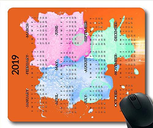 2019 Kalender-Mauspad personalisiert, Kalenderschreibtisch Gaming-Mauspads, Kalenderplaner 2019 mit Feiertagsdetails
