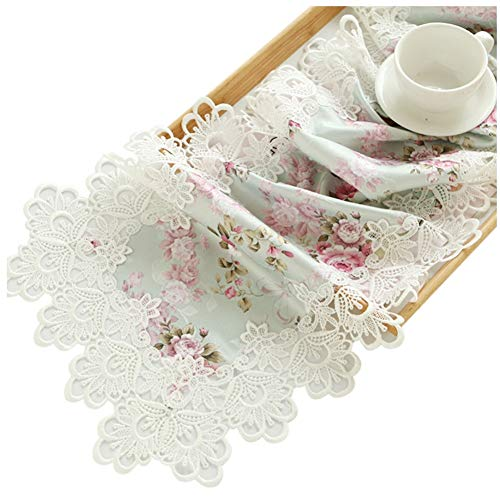 Chemin de table Drapeau de table en dentelle, long chemin de table pour la famille Family Mat Birthday Wedding Supplies Coffee Mat Hotel Literie (taille : 40×220cm)