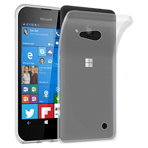 Preisvergleich Produktbild Cadorabo Hülle für Nokia Lumia 550 - Hülle in VOLL TRANSPARENT – Handyhülle aus TPU Silikon im Ultra Slim 'AIR' Design - Silikonhülle Schutzhülle Soft Back Cover Case Bumper