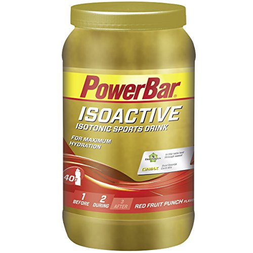 PowerBar Isoactive Isotonisches Sportgetränk (5 Elektrolyte und C2max Dual Source Carb Mix) - Red Fruit Punch (1 x 1.32kg)