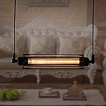Retro Loft Colgante Decoración Luz de techo Rural Creativo Suspensión Diseño Accesorio E27 40W Max [clase de energía A ++]