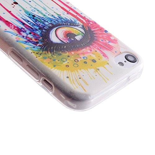 MOONCASE pour iPhone 5C Case Silicone Gel TPU Housse Coque Case Etui Cover X06 X06 #1207