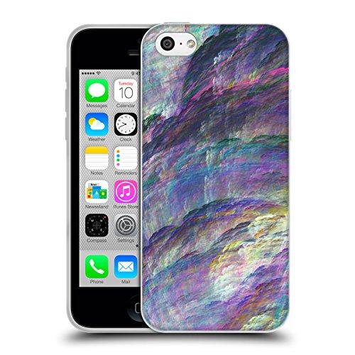 Offizielle Andi GreyScale Schillernde Drachen Lebendig Soft Gel Hülle für Apple iPhone 5c Prisma Klippe