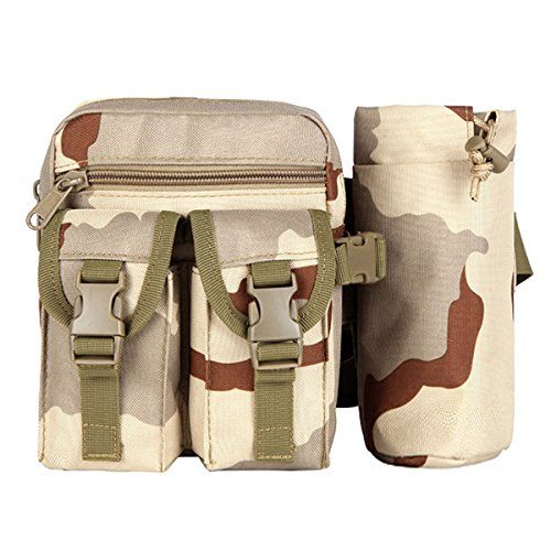 Aodoor Outdoor Reisen Sport Taktische Tasche Bauchtasche, Gürteltasche Handytasche Tasche Waist Bag-Multifunktional für Camping Reise Wandern(Braun) Style 2 Grau