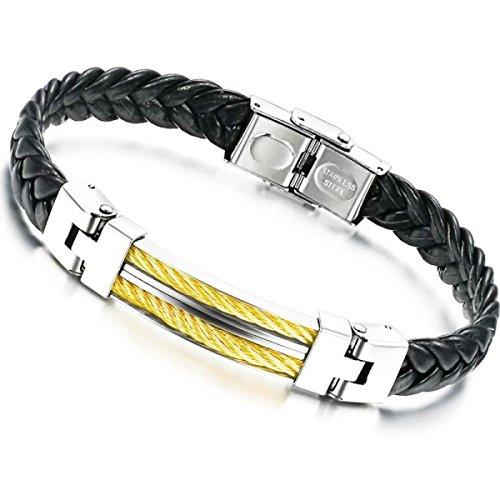 Preisvergleich Produktbild LZHMNew Mode Männer Armband Aus Titan Stahl Gürtel Armbänder Schwarz