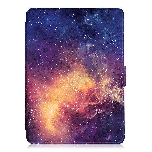 Fintie Hülle für Kindle Paperwhite - Die dünnste und leichteste Schutzhülle mit auto Sleep / Wake Funktion (Nicht geeignet für das Modell der 10. Generation 2018), die Galaxie