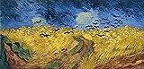 Wieco Art Framed Giclee stampe su tela di Van Gogh campo di grano con corvi, moderno famosi dipinti ad olio riproduzione paesaggio immagini su tela da parete per soggiorno decorazioni van-0007