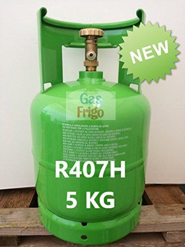 *NUOVO GAS* R407H IN BOMBOLA RICARICABILE da 5 KG NETTI SOSTITUTO R404A R404