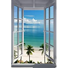 "Póster ""Ventana hacia la playa"" Beach Window/Ventana hacia la playa (61cm x 91,5cm)"