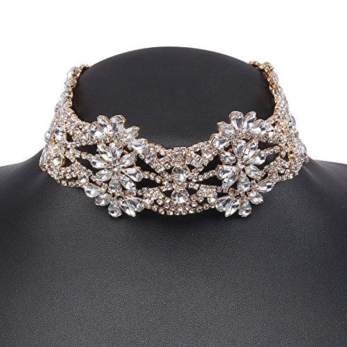 Holylove Damen Statement Halskette Gold, Costume Halskette für Damen Neuheit Mode Schmuck 1 Pc mit Geschenkbox- HLN015 Gold