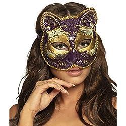 Boland 00341–Máscara Gato Venezia, Colores Surtidos
