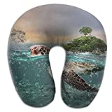 GHEDPO Nackenhörnchen Ocean Seashore Beach Super U Type Pillow Neck Pillow Outdoor Travel Pillow Relief Neck Pain Seitenschläferkissen