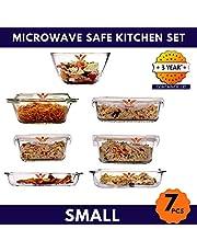 Femora Borosilicate Glass Microwave Safe Mixing Bowl Contai