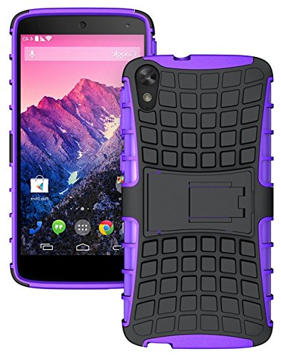 Heartly Flip Kick Stand Spider Hard Dual Rugged Armor Hybrid Bumper Back Case Cover For HTC Desire 828 Dual Sim - Frame Purple