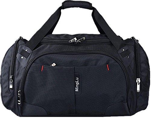 KB-17 sac à main grande capacité sacoche d'affaire voyage fourre-tout sac bandoulière sport Unisexe - noir