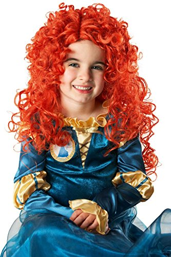 Perücke Merida Kostüm - Rubie's 352602 - Merida Wig Child, STD, orange