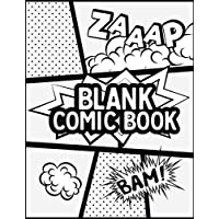 """Blank Comic Book: Blank Comic Books - Create Your Own Comics With This Comic Book Journal Notebook (120 Pages Large Big 8.5"""" x 11""""): Volume 2 (Comic book art)"""
