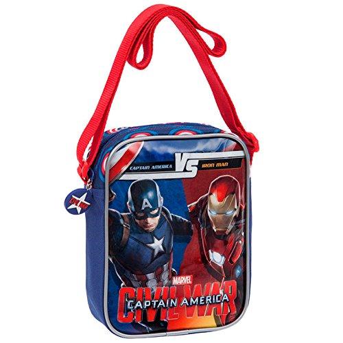 Sac à Bandoulière Sacoche Iron Man Vs Captain America - Civi