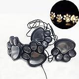 everpert 4 Solar Katze Tier Pfote Lichter Garten Laterne LED Pfad Lampe / Warme Farbe
