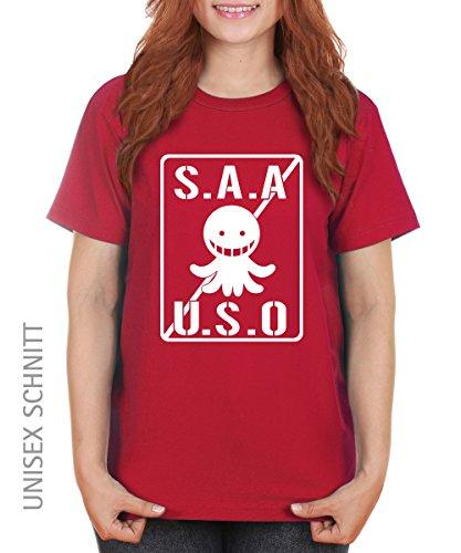 -- SAAUSO -- Korosensei Assassination Girls T-Shirt auch im Unisex Schnitt Rot