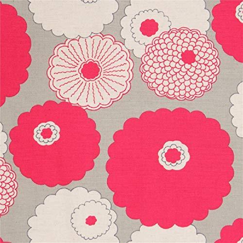 Kobayashi Tela de Lona Gris con Flores Rosa Color Natural de Japón
