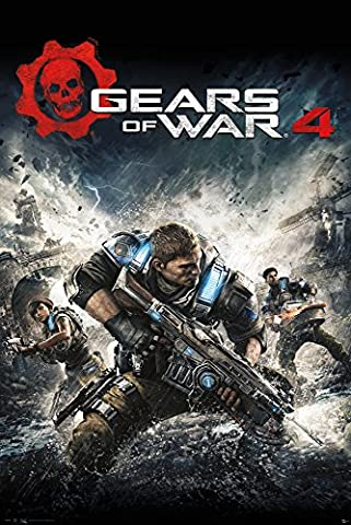 GB eye Gears of War 4 Cover Maxi Poster, Wood, Multi-Colour, 61 x 915 cm