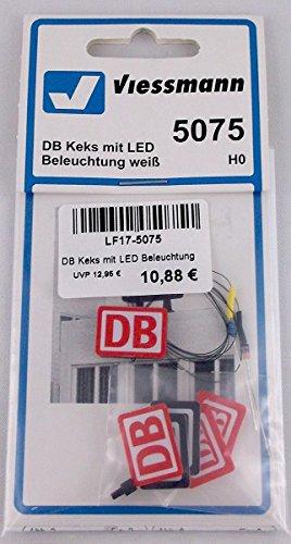 Viessmann 5075 - H0 DB Keks mit LED Beleuchtung, weiß
