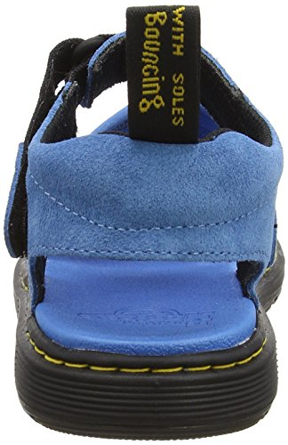 Dr. Martens Zachary Y, Spartiates Mixte Enfant Bleu (Mid Blue/black Neoprene/hi Suede Wp)
