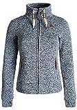 DESIRES Thorina Damen Fleecejacke Sweatjacke Jacke mit Stehkragen und Daumenlöcher, Größe:S, Farbe:Insignia Blue (1991)