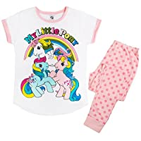 TDP PJ Ladies Character Pyjamas Choose from Super Woman Tinkerbell Eeyore Marvel Heroes Minnie Mouse (12-14 Ladies, My Little Pony Style 2)