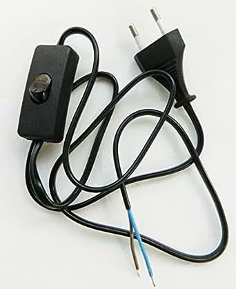 Kit fil cordon prise interrupteur pour montage lampe c ble raccordement - Kit douille cable interrupteur ...