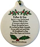 Father & Son 2016 Porcelain Ornament Rhinestone Special Love Bond Gift